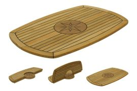 139446 Marine Teak Table Folding 93 x 61