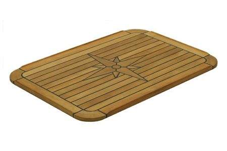 139427 Marine Teak Table Soft Square 75 x 51
