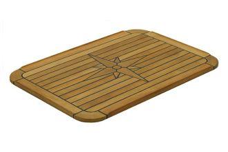 139430 Marine Teak Table Soft Square 90 x 58
